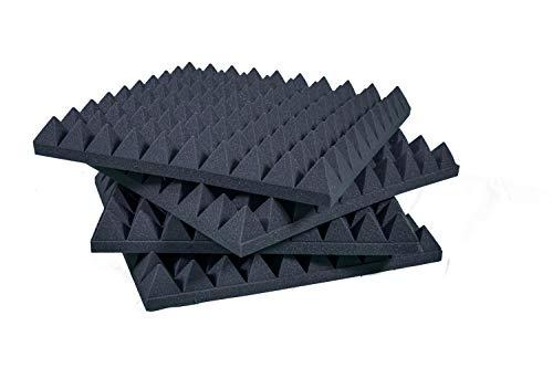 Pannelli Fonoassorbenti Piramidali Correzione Acustica 50x50x6 D25 Pacco Da 20