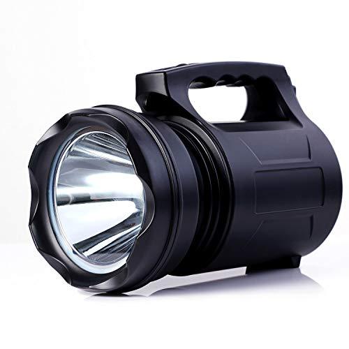 Alflash - Torcia tascabile da esterno super luminosa, ricaricabile, 10000 lumen, 15000 mAh, impermeabile, potente