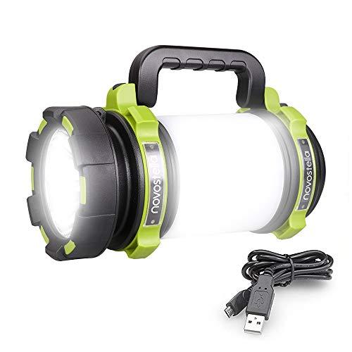 Novostella 1000LM Torcia LED Ricaricabile con batteria da 4000mAh e LED Cree