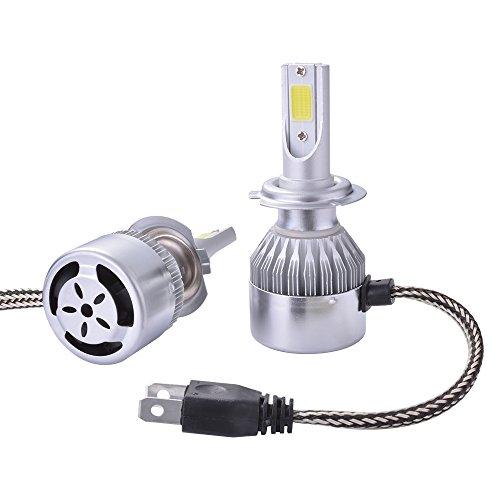 XCSOURCE LED 10000LM 2Pcs 55W condotto H7 lampadina torcia alogena HID lampada allo xeno incorporato nella ventola 6000K Bianco LD974