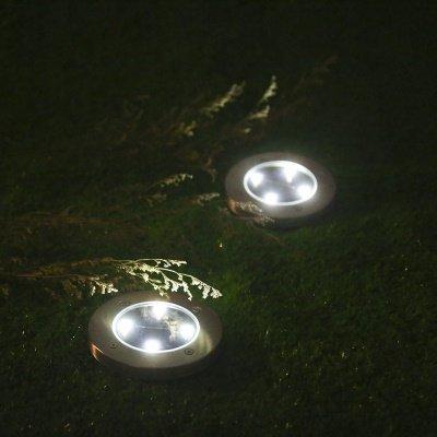 solar disk light acceso